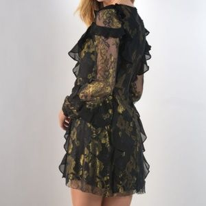 abe3b69603e For Love And Lemons Dresses - FFL BUMBLE LONG SLEEVE RUFFLE DRESS